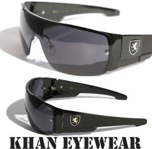 1608f8214c Image is loading Mens-oversized-Sunglasses-Khan-eyewear-SHIELD-SPORTY-WRAP-