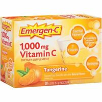 4 Pack Emergen-c Pink 1000 Mg Vitamin C Supplement Tangerine 30 Packets Each on sale
