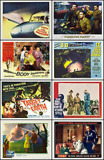 FLYING SAUCERS  SPACE SHIPS LOT Of 8 Individual SCI-FI 11x14 TC And HS Prints
