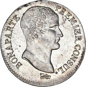 Bonaparte-Premier-Consul-5-Francs-AN12-Toulouse-UNC-FDC-Etat-exceptionnel