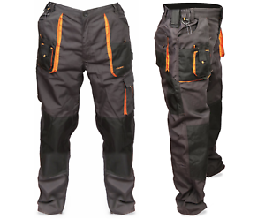 Da-Uomo-Multi-Tasca-Cargo-Heavy-Duty-ginocchio-Pad-triple-cuciture-Pantaloni-Top-Quality