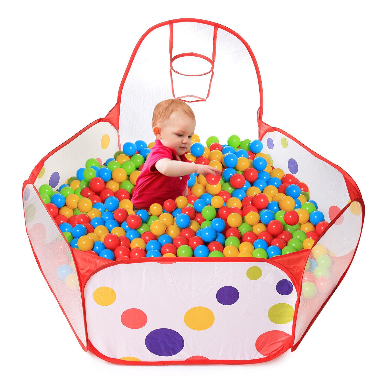 Gift Gift Gift Set Pop Up Kids Ball Pit 200pcs colord Plastic Balls - Bundle Combo 648d7b
