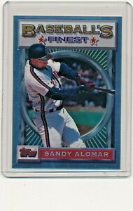 1993-Topps-Finest-26-Sandy-Alomar-Jr-Cleveland-Indians-Baseball-Card