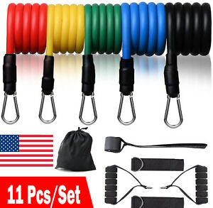 11-PCS-Resistance-Band-Set-Yoga-Pilates-Abs-Exercise-Fitness-Tube-Workout-Bands