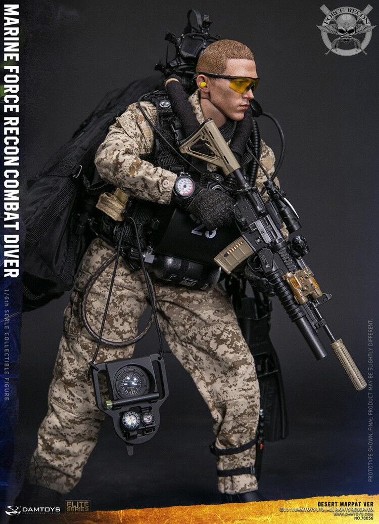 DAMTOYS 78056 1 6 Usmc Marina Force Recon combate Diver camuflaje del desierto ver.