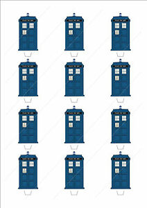 Novelty Doctor Who Tardis Edible Fairy Cake Cupcake Toppers