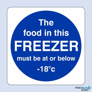 La comida en este congelador debe ser de o inferior 18c