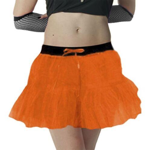 Womens Neon Vest 2 Layer Tutu Skirt Bead Necklace Leg Warmer Ladies Fancy Dress