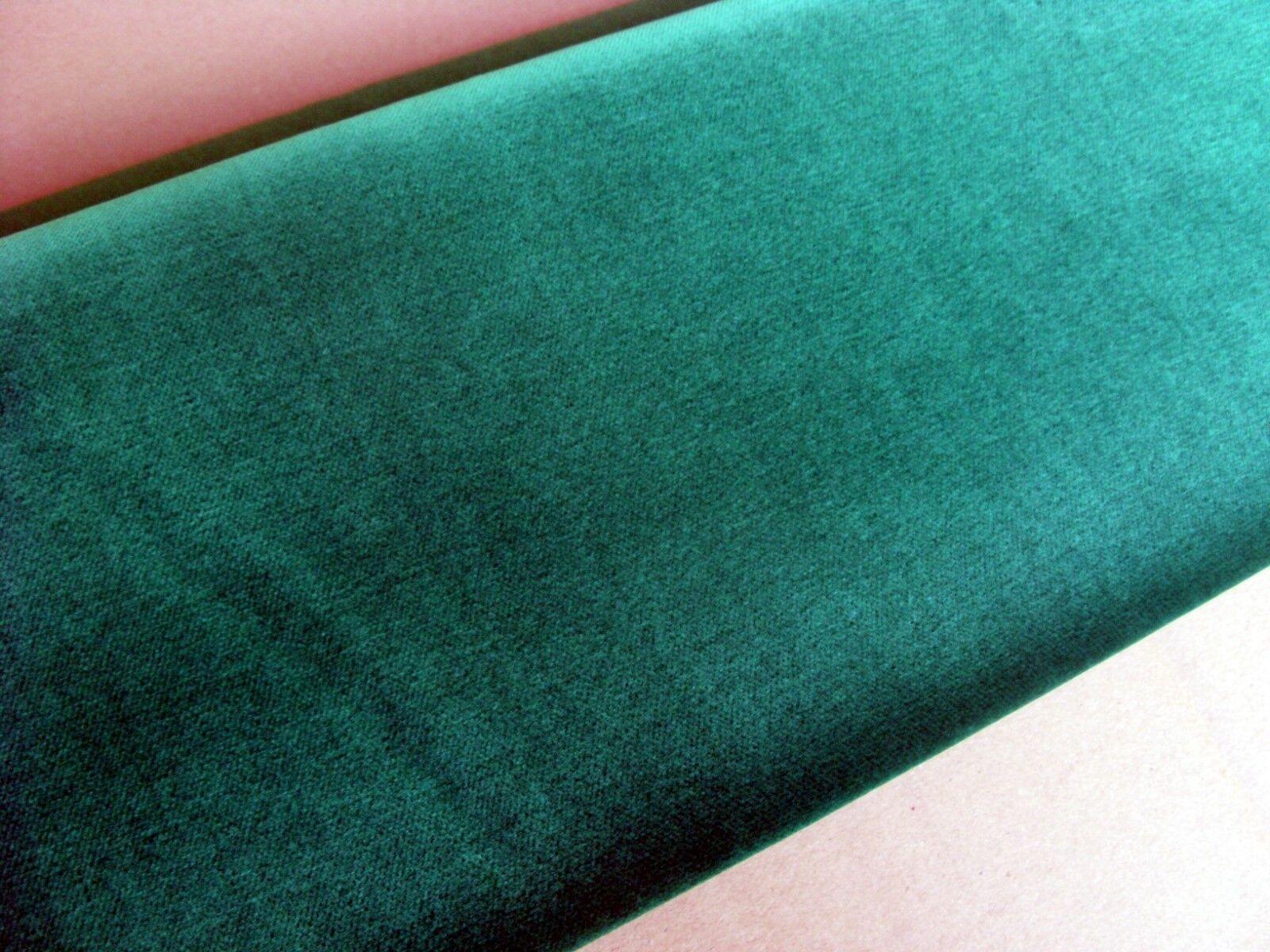 Baumwollsamt  mit Goldkante- 5 m 150 cm breit, mittelgrün(7011)Deko, Bekleid