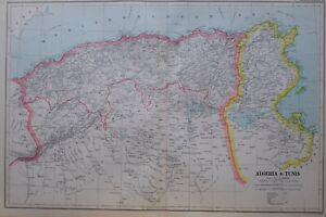 1919-MAP-ALGERIA-amp-TUNIS-ATLAS-MOUNTAINS-CONSTANTINOPLE-MASCARA