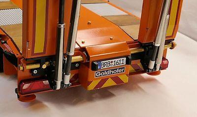 Umbausatz  für den Carson Goldhofer Tieflader auf elektrisch betriebene Rampen