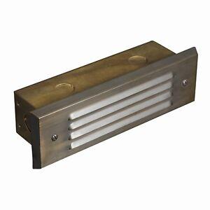 Details About Led Low Voltage Solid Br Deck Step Light Architectural Landscape Lighting