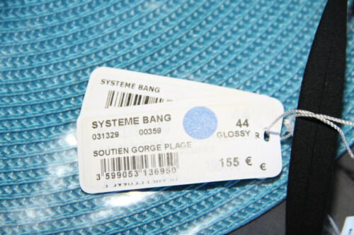 US 12 NEUF Val 155€ glossy ERES system bang T 44 haut maillot de bain bikini