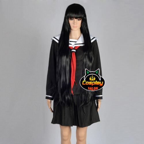 Anime Uniform Black Party Japan Skirt Costume Dress+Tie Cosplay