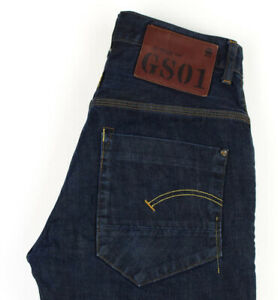 G-Star Brut Hommes Neuf Radar Conique Jeans Jambe Droite Taille W29 L31 AGZ117