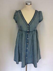 Light Denim Sleeve Ralph Dress Cap S Size Blue Lauren HOqx5Uwt