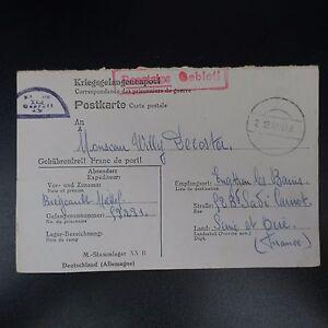 Rationnel Lettre Prisonnier Guerre Stalag Xx B Enghien Les Bains Kriegsgefangenenpost Pow