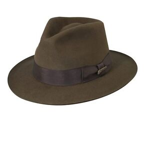 6837bdb3 Details about INDIANA JONES AUTHENTIC FUR FELT FEDORA - Same Day Shipping -  IJ554
