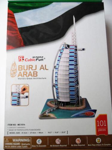 3d Puzzle Burj Al-Arab Dubaï Cubic Fun Burj Al Arab gratte-ciel NOUVEAU! hauteur 60 cm