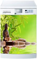 Sticker lave vaisselle déco cuisine électroménager Bouddha réf 632 60x60cm