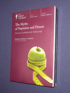 Teaching-Co-Great-Courses-DVDs-MYTHS-OF-NUTRITION-and-FITNESS-sealed