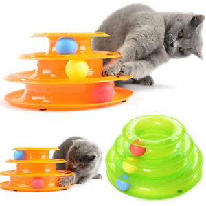 Funny-Pet-Cat-Crazy-Ball-Disk-Interactive-Toys-Amusement-Plate-Trilaminar-Toy