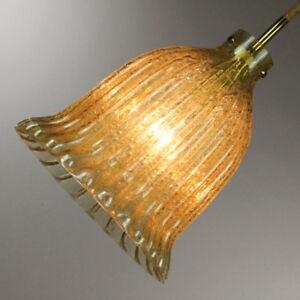 alte-Doria-Amber-Glass-Bell-34-Hollywood-Regency-Design-Pendant-60er-70er-Jahre