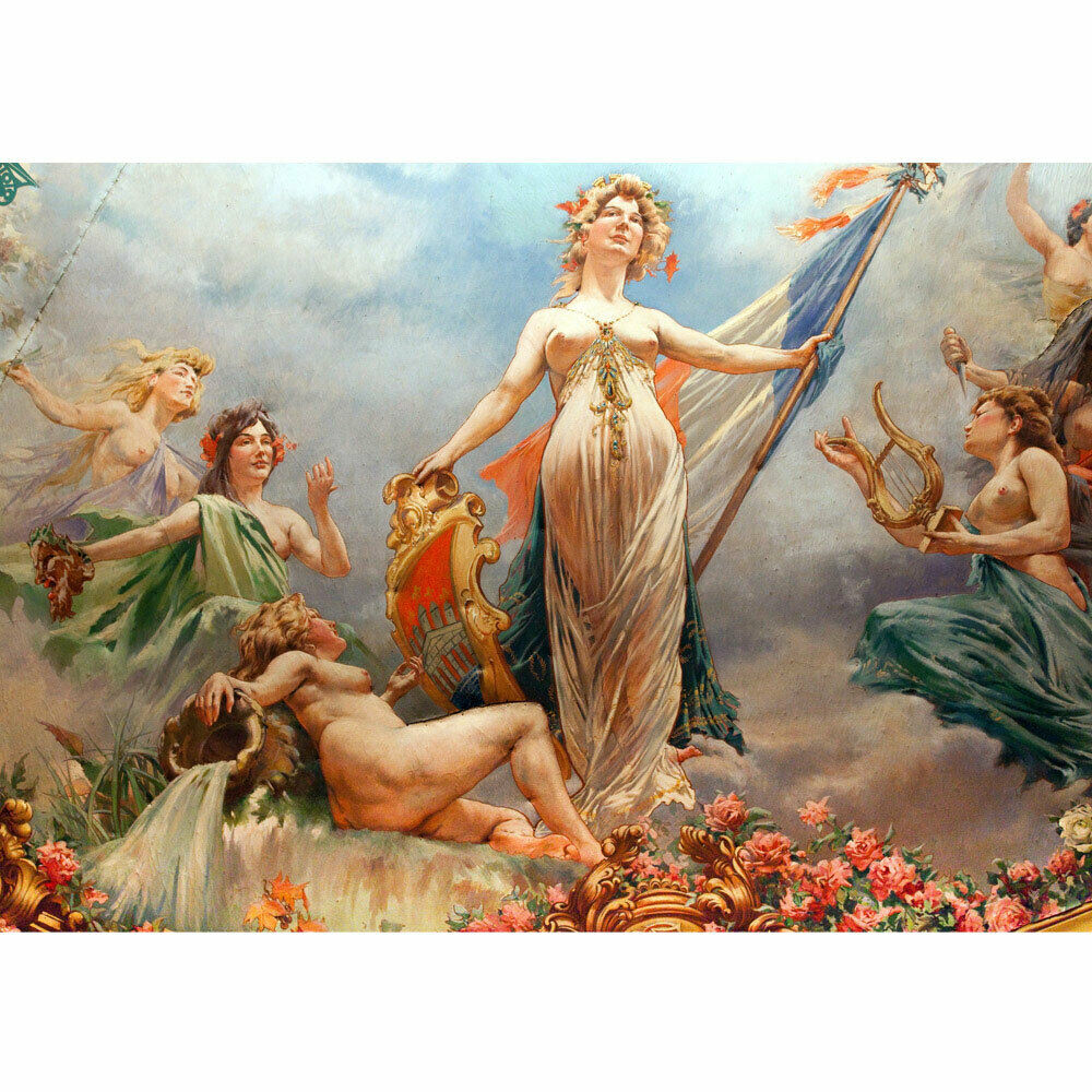 Photo Wall Paper Kunst Fresco France Mural Wall Painting Liwwing No. 96