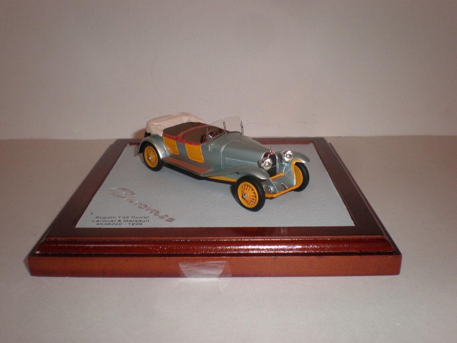 Ilario 1926 Bugatti Tipo 38 Tourer Lavocat & marsault Chro 035 abierto