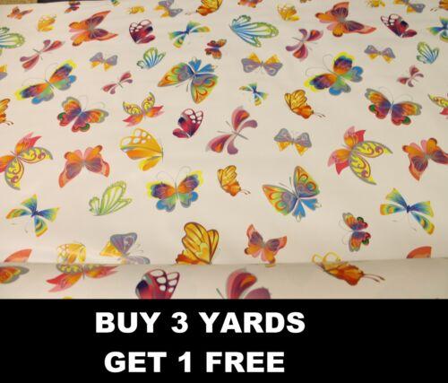 COLORATO Farfalla Farfalle Volanti TABLECLOTH VINILE PVC tessuto tessuto incerato