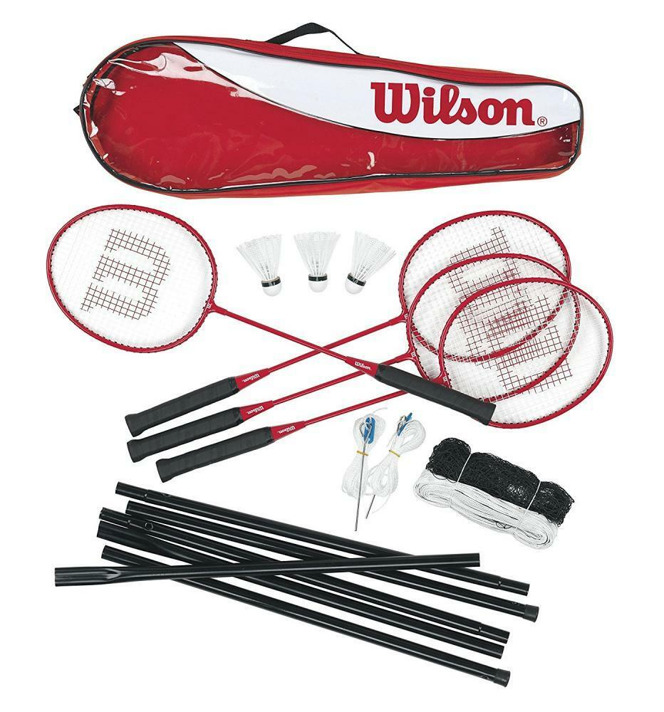Wilson Tour 4 Player Player 4 Family Badminton Set with Net, Posts and Shuttles 88c481