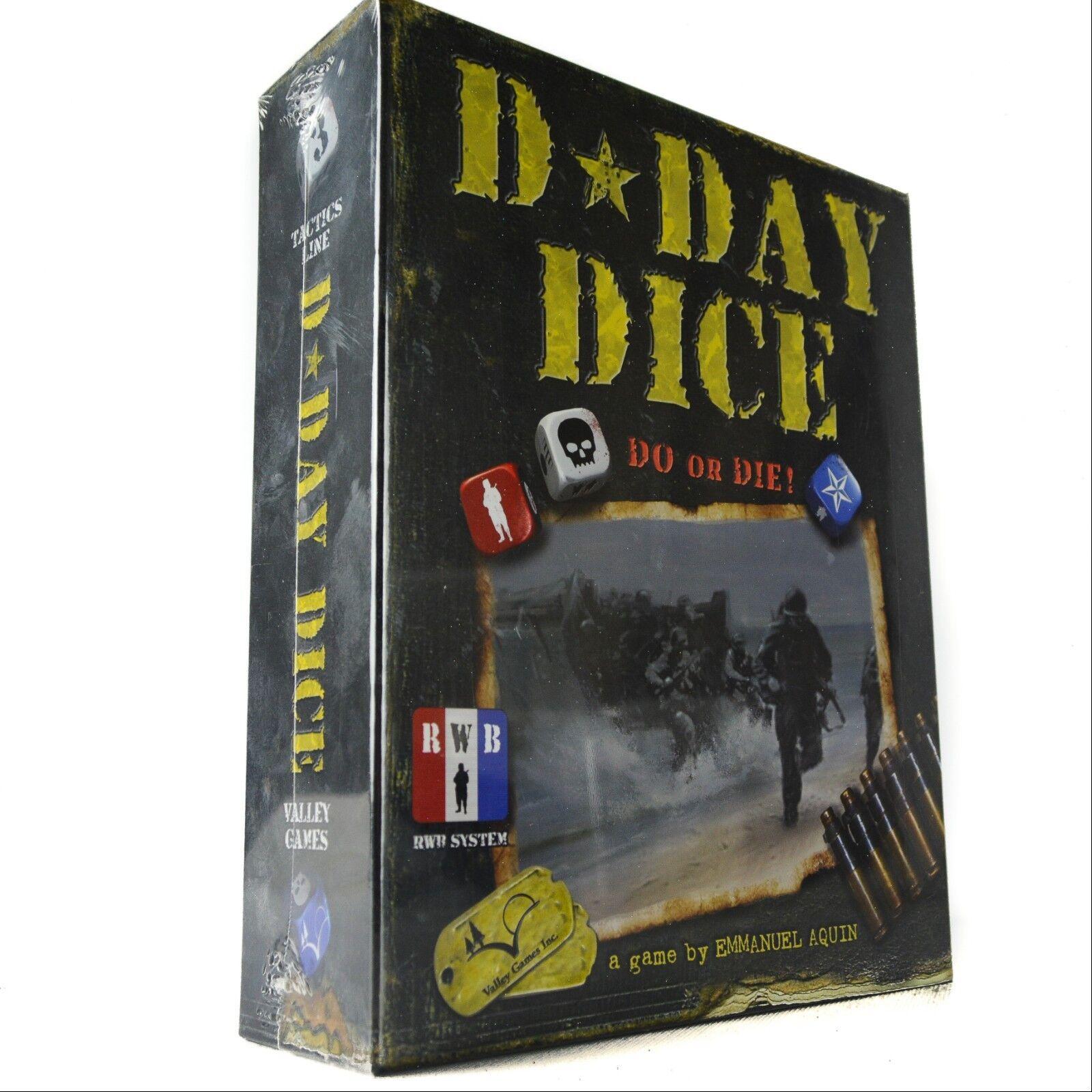 Juegos de Valle D Día dice hacer o morir tablero de juego de dados Ejército (Nueva Caja Sellada)