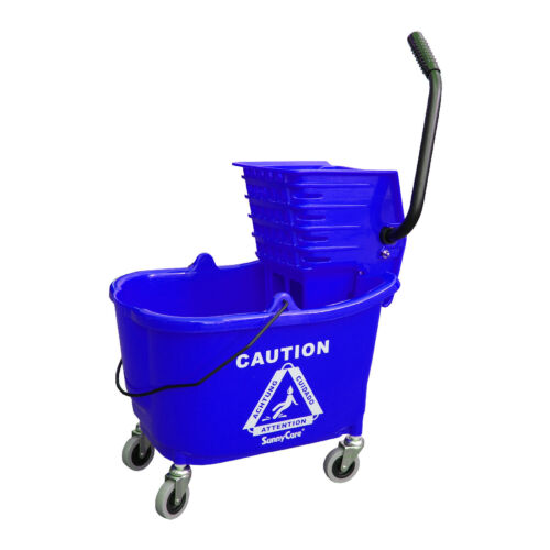 Blue NEW SunnyCare® 35qt Mop Bucket with Wringer Side Press Plastic