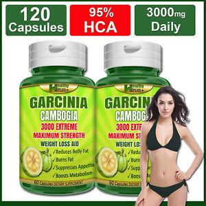 120-Capsules-GARCINIA-CAMBOGIA-95-HCA-Burn-Belly-Fat-Weight-Loss-Less-Appetite