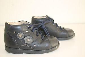 Details zu DÄUMLING Lauflernschuhe Halbschuhe echt Leder Boots Baby Gr.21 NP 59,95 blau