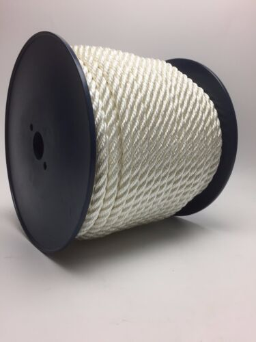 10mm White Nylon Rope x 150 Metre Reel, Anchor Line Boat Dock Mooring Yacht Warp
