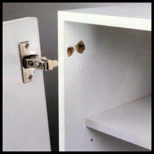 Scharnier Schranktür reparieren Kaputte Defekte Reparatur KIT Platte Silber