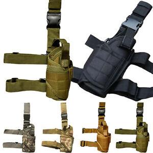 UK-Tactical-Military-Adjustable-Drop-Leg-Thigh-Gun-Holder-Pistol-Pouch-Holster