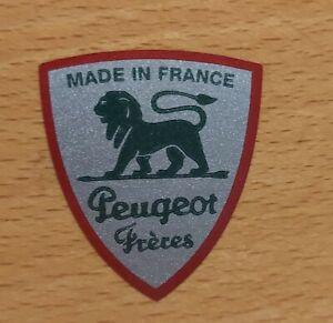 Peugeot Freres Logo  Kaffeemühle Restaurieren Silber-Grün Metallic 28x32 mm