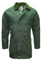 Wax Jacket Green Water Resistant Hunting Shooting Padded Quilted Farming