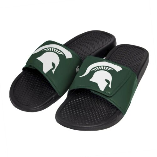 Michigan State Spartans NCAA Men/'s Cropped Big Logo Flip Flop,Sandal FREE SHIP!