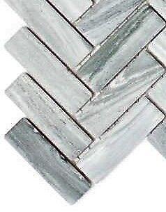 Art 24-SO32 Mosaic tile Ceramic Herringbone stone optics grey
