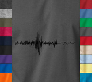 Details about SOUND WAVES T-Shirt Cool DJ Recording Music Audiophile Audio  - 100% Ringspun Tee