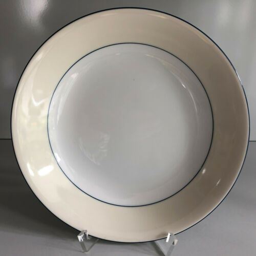 Taitù DUE blau schwarz beige TELLER tief 19,5 cm ungenutzt Plate Taitü