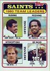 1981 Topps Saints Team #76 Football Card