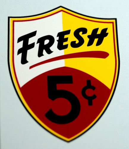 FIVE CENT FRESH REGAL WATER SLIDE DECAL # DR 1070 FOR VENDING