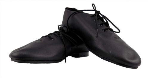 Full-sole Black or White Jazz Shoes Leather