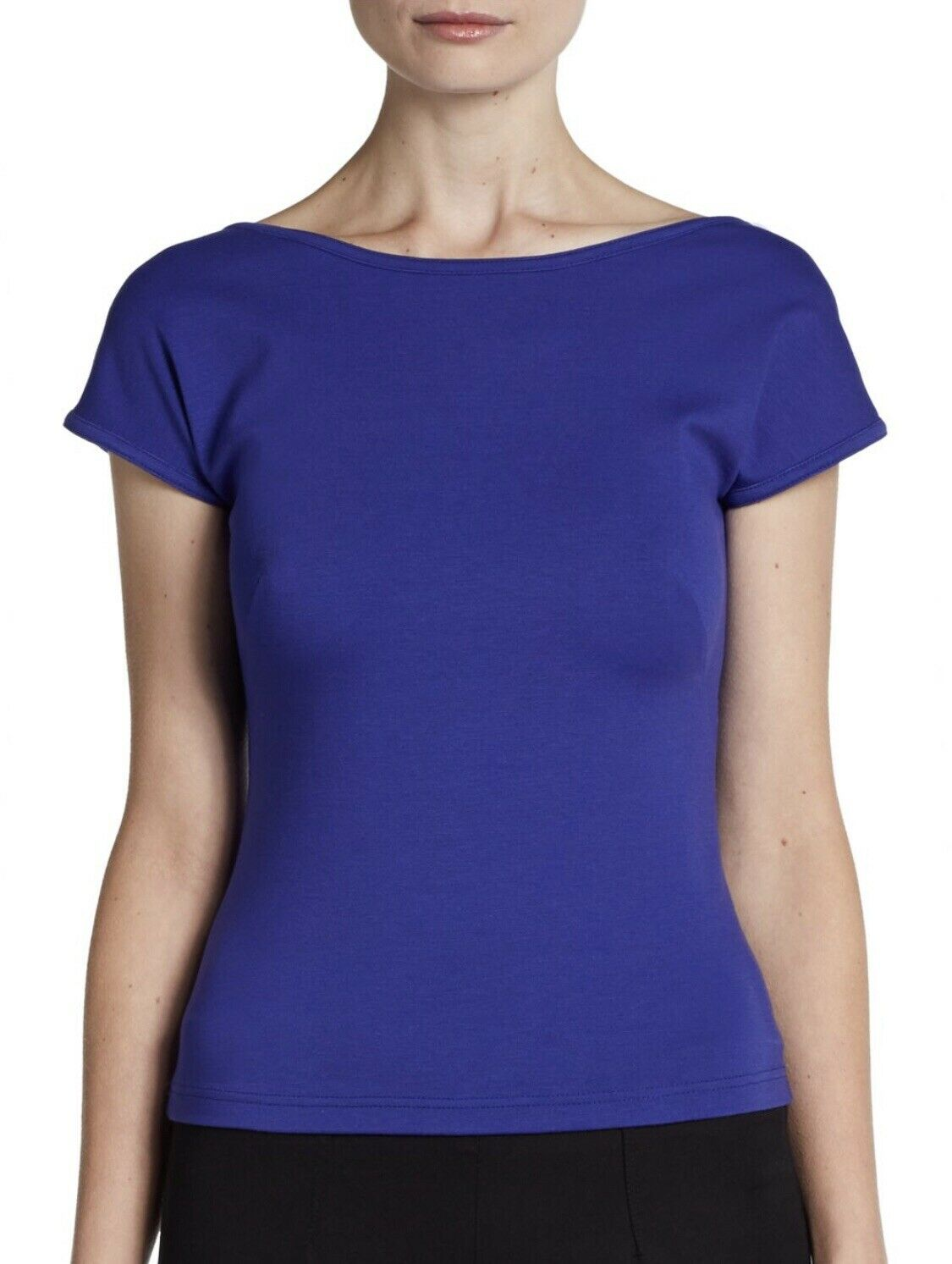 Akris Punto Stretch Jersey Top Cap Sleeve Essentials Collection Sz 6 Small
