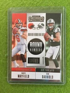 BAKER-MAYFIELD-ROOKIE-CARD-SAM-DARNOLD-RC-2018-Panini-Contenders-Football-RNA-MD