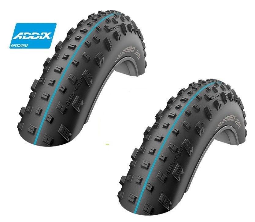 2x neumáticos Schwalbe Jumbo Jim Snakeskin preparan 110-559 diversidad Addix speedgrip negro